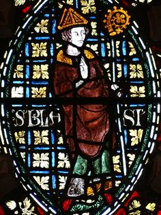 Chapel of St Lucy - Becket Window, tracery lights, : detail - St Blaise Saint Blaise, Grisaille, Spiderman, Cathedral, Medieval, Christ, Saints, Oxford, Window
