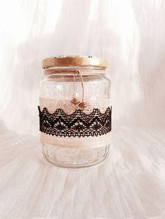 Frasco rústico reciclado/Handmade rustic jar