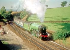 photo detail4472 'Flying Scotsman' is rounding the curve between Chinley North and East Junctions with 'The Merseyside Express', running from Manchester to York on 29/09/79. See also FS22, 23 & 24.
