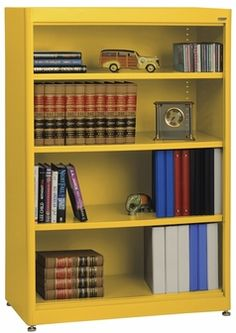 Elite Series 36'' W x 18'' D x 52'' H Four Shelf Welded Radius Edge Stationary Bookcase - Yellow, BA3R-361852-EY by Sandusky Lee Corporation | BizChair.com