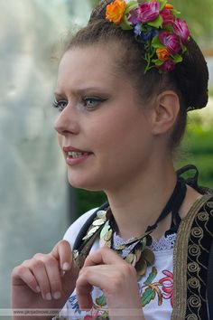 Serbian girl in traditional dress