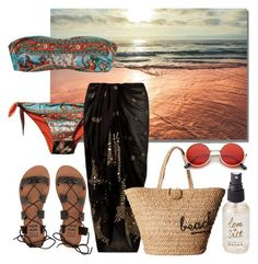 """""""Love & Salt"""" by carmen3601 on Polyvore featuring Olivine, Billabong, Dolce&Gabbana, Accessorize, Hat Attack and ZeroUV"""