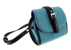 Lovely Authentic Harris Tweed Mini Bag in Stunning Plain Sky Blue - Made In Scotland - ScotsUSA Harris Tweed, Small Shoulder Bag, Mini Bag, Bag Making, Saddle Bags, Women's Accessories, Fashion Backpack, Classic Style, Outfit Of The Day