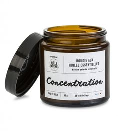 Bougie Huile Essentielle Concentration