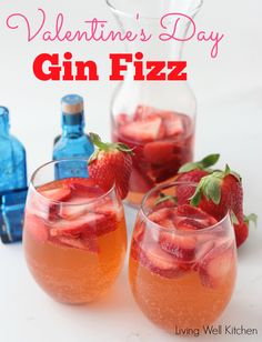 Valentine's Day Gin Fizz from Living Well Kitchen @memeinge