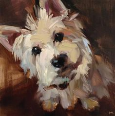 "Daily Paintworks - ""Ripley, Believe it or Not"" - Original Fine Art for Sale - Patti McNutt #DogPainting #OilPaintingDog"