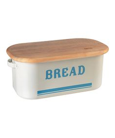 Bread Box & Cutting Board Lid by Jamie Oliver #zulily #zulilyfinds - Love that the bread box includes a bread board!!