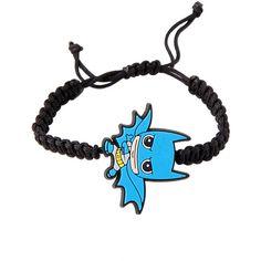 DC Comics Batman Kawaii Cord Bracelet Hot Topic ($15) ❤ liked on Polyvore featuring jewelry, bracelets, black bangles, rubber jewelry, black cord bracelet, kohl jewelry and adjustable bangle