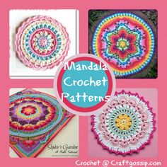 Well if you haven't already noticed Mandala Crochet, or Crochet Mandala's are starting to trend all over the world. These colorful beauties are going to be seen more and more in clothin… Crochet Potholders, Crochet Squares, Crochet Granny, Crochet Doilies, Free Crochet, Knit Crochet, Crochet Mandala Pattern, Crochet Stitches Patterns, Crochet Dreamcatcher Pattern Free