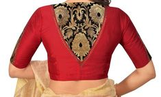 Designer Red Cotton Silk Blouse New Indian Designer Readymade Blouse For Women Wedding,Party Wear Saree Choli Top Tunic Sari Blouse - Blouse designs Indian Blouse Designs, Simple Blouse Designs, Stylish Blouse Design, Blouse Back Neck Designs, Silk Saree Blouse Designs, Party Kleidung, Designer Blouse Patterns, Skirt Patterns, Coat Patterns