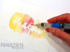 Betsy Veldman - How to emboss resist with watercolors