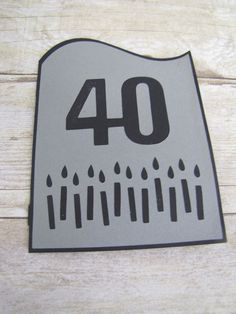 40th Over the Hill Birthday Card Invitation.