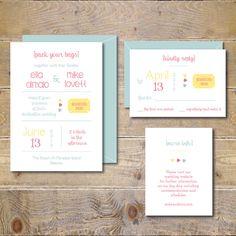 Printable Wedding Invitations . DIY Wedding Invitation . Invitation File . Wedding Invitations . Beach Wedding .  PDF  - Pack Your Bags