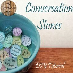 Conversation Stones.  A thoughtful gift. DIY Tutorial from TheRefurbishedHome