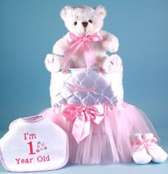 A Unique Gift To Welcome New Baby Girl Would Be Our Tote Tutu Teddy Bear Personalized Shower Gifts 1st Birthday