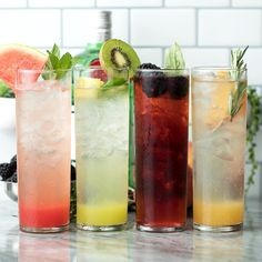 Gin Recipes, Gin Cocktail Recipes, Alcohol Drink Recipes, Cocktail Drinks, Fun Drinks, Yummy Drinks, Healthy Drinks, Beverages, Alcoholic Drinks Gin