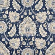 Waverly Castleford Indigo fabric is a lovely damask drapery and upholstery fabric. Perfect for projects like valances, tote bags, chair cushions, and more, this fabric is made to last and will always be in style. Ticking Fabric, Drapery Fabric, Fabric Decor, Linen Fabric, Canvas Fabric, Fabric Design, Curtain Material, Chair Fabric, Fabric Crafts