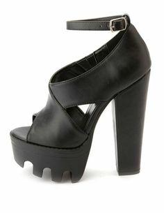 Mega Lug Chunky Platform Heels: Charlotte Russe