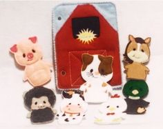 Barn and finger puppet animal quiet book addon page
