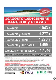 Bangkok y Playas 19Agosto-10Diciembre Thai Airways 1.043€ Tasas Incluidas - http://zocotours.com/bangkok-y-playas-19agosto-10diciembre-thai-airways-1-043e-tasas-incluidas/