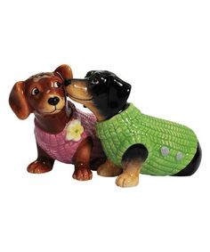 Love this Dachshund Sweaters Salt & Pepper Shakers on #zulily! #zulilyfinds