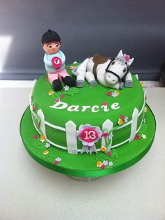 Horse Cake. For a pony mad birthday girl. Really pleased with this one