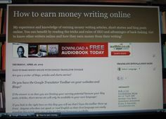 How to Earn Money Writing Online Articles, Stories and Poetry   http://howto-answers.hubpages.com/hub/How-to-earn-money-online-from-writing-articles-Joining-a-writing-site-online  This Blog earns me money online