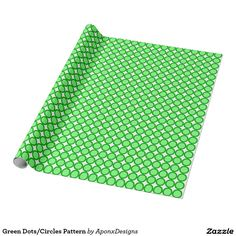 Wrapping Paper: Green Dots/Circles Pattern