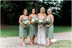 Rachel and Josh - Nicole Gourley Photography Green Photo, Together Forever, Bridesmaid Dresses, Wedding Dresses, Portrait Photographers, Photo Credit, Wrap Dress, The Incredibles, Bouquets