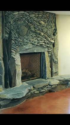 Art of Stone fireplace