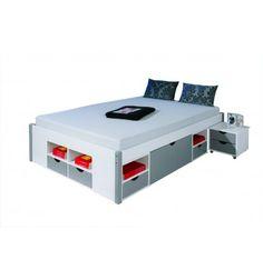 Superbe lit double multi-fonctions pour adultes! Composé d'unbon nombre d'espaces rangements, ce lit vous prouvera qu'il n'a pas qu'une fonction de repos! S...