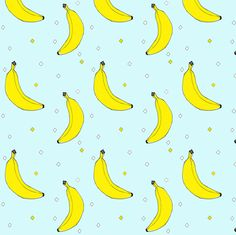 bananas - elvelyckan fabric by elvelyckan on Spoonflower - custom fabric