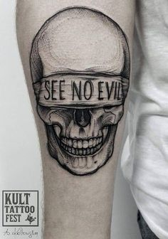 New School Good And Evil Tattoo Designs