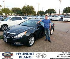#HappyAnniversary to Phil Lynn on your 2013 #Hyundai #Sonata from Frank White at Huffines Hyundai Plano!