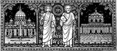 Dedication of the Basilica of Sts Peter and Paul - Nov 14 Psalm 139, Catholic Art, Fraternity, Line Art, Faith, Draw, Traditional, Black And White, Image