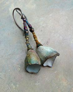 dusk barnacle rock earrings by greybirdstudio   by greybirdstudio