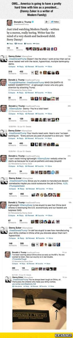 Donald Trump Vs. Modern Family Writer - BOOM GOES THE DYNAMITE.