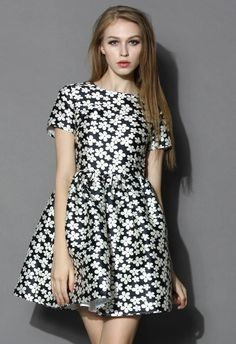 Full of Daisy Skater Dress
