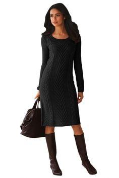 435968d76f9 Black Women s Hand Knitted Sweater Dress