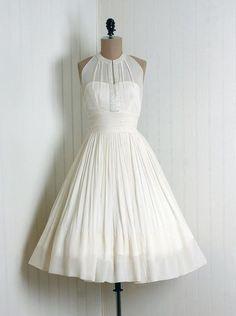 Vintage style white dress