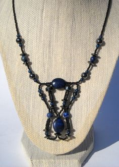 Lapis Necklace  Lapis Lazuli Gemstone necklace by DesignbyTalarico, $80.00