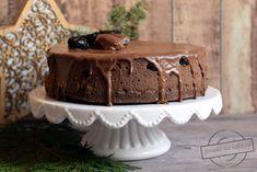 Czekoladowy sernik z rumowymi śliwkami (oraz życzenia) – Smaki na talerzu Rum, Cheesecake, Sweet, Candy, Cheese Cakes, Cheesecakes, Cherry Cheesecake Shooters, Room