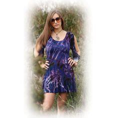 Spandex Mudmee Tie Dye Mini Dress with split half sleeves - Jayli Imports, Inc. Store