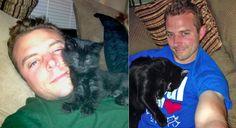CAT MAN MONDAY: Chris Poole, He Loves Cats of All Sizes http://ihavecat.com/2014/04/07/cat-man-monday-chris-poole-he-loves-cats-of-all-sizes/  #catman #catmen #rescuecat #cat #blackcat