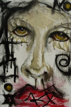 Kelli Dubay Original Art Oil Painting Joker 24x36 by Megalomaniart, $300.00
