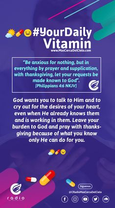 Philippians 4 6, Daily Vitamins, Anxious, Our Life, Proverbs, Psalms, Lord, Advice, Wisdom