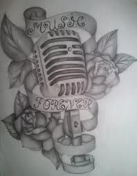 skull music tattoo designs - Google Search