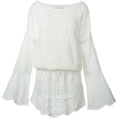 Crochet knit dress polyvore summer