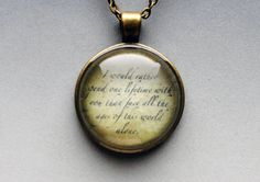 True Love Lord of the Rings Necklace by resinapocalypse on Etsy, $14.00