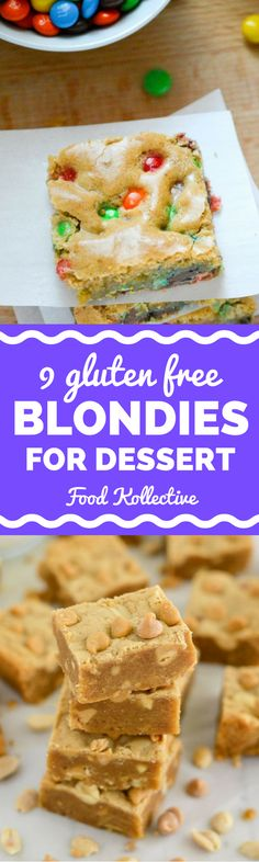 I was looking for gluten free blondies and these look ah-mazing! There are so many different flavors. Cake batter blondies, apple pie blondies, flourless blondies, blondies with coconut flour, blondie